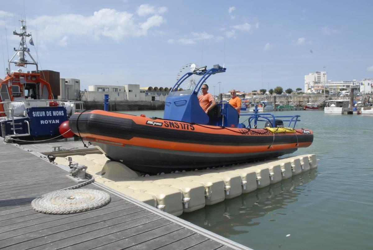 plataforma flotante para embarcaciones